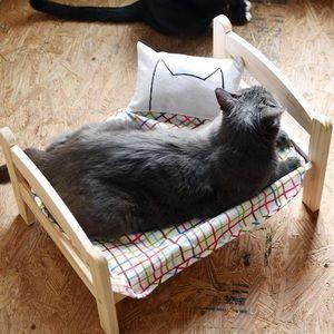 NIB IKEA DUTKIG puppy small dog bed pine wood NEW!